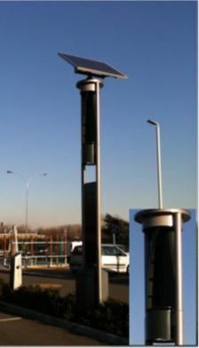 Generatore Microeolico su palo per illuminazione stradale