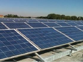 Impianto Fotovoltaico su tetto piano di capannone industriale 100KWp