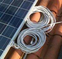 Cablaggio Pannelli Fotovoltaici con Cavi in eccesso